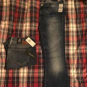 Mavi PEACE Mid-Rise Skinny Flare Dark Denim Jeans